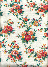 vintage orange floral