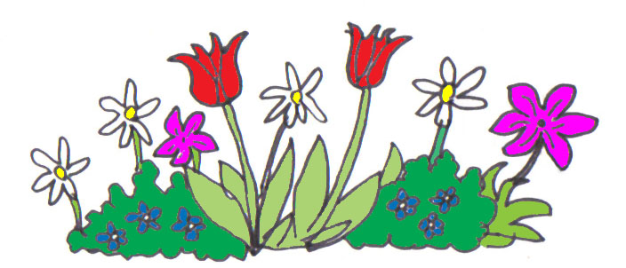 cartoon images of flowers. Last weekend a few of the Kirkland Friends gathered on the first day of the