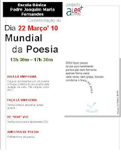 convite para a comemorãção do dia Mundial da Poesia