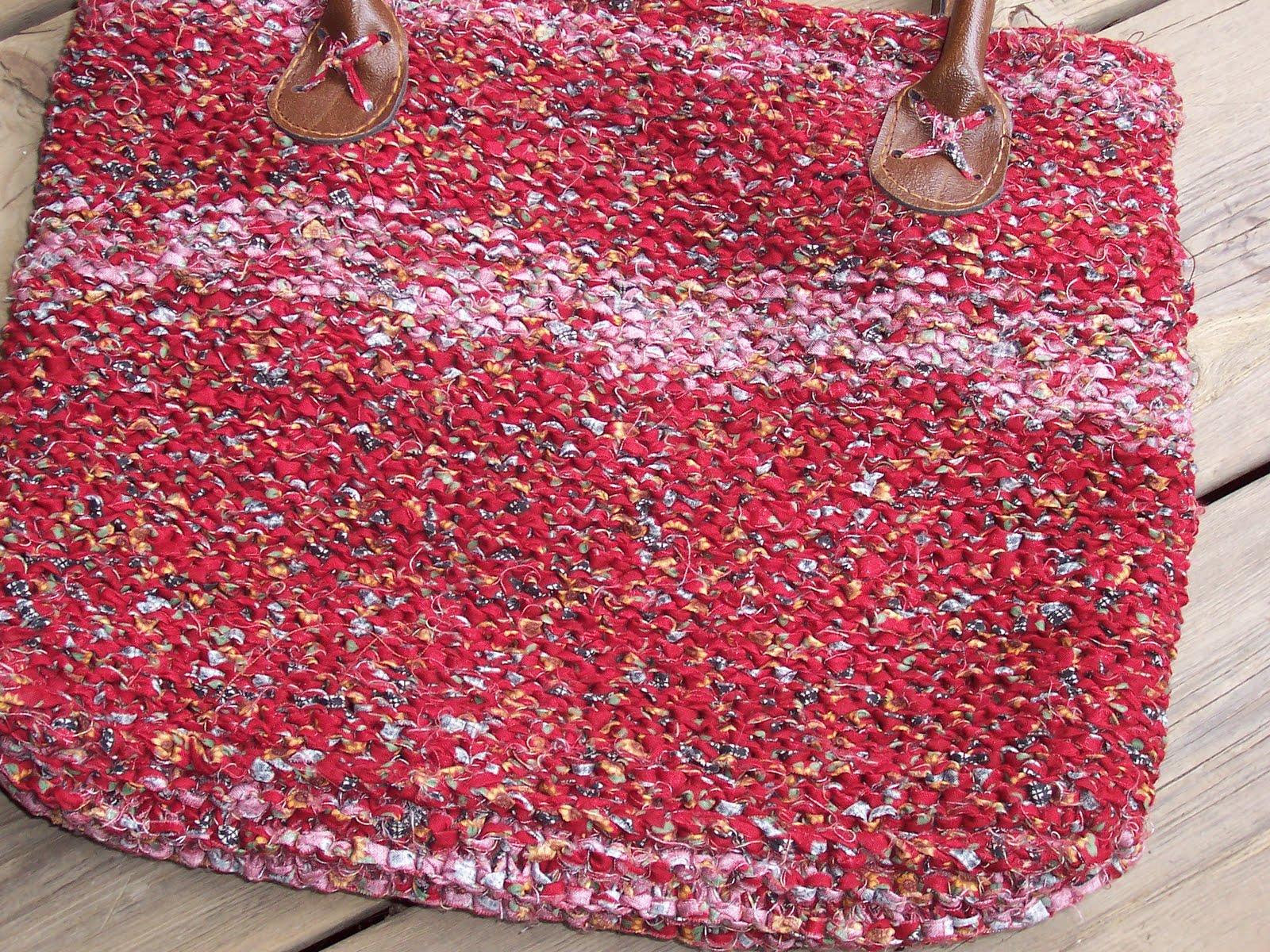 Rag Knitting Patterns : Grannypurl: Another fabric strip/rag knit bag