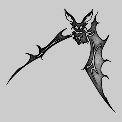 You can DOWNLOAD this Bat Tattoo Design - TATRBA07