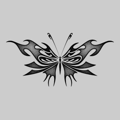 tribal tattoo butterfly. utterfly tribal tattoos.