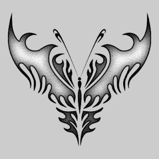 butterfly tribal tattoos are symbolic of how fragile life really is tattoo. Black Bedroom Furniture Sets. Home Design Ideas