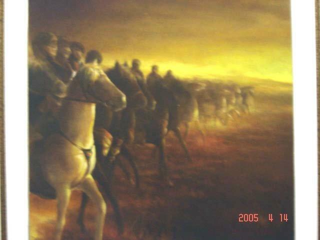 Lukisan,lukisan pemandangan,lukisan peperangan,lukisan masa lalu,lukisan cat minyak