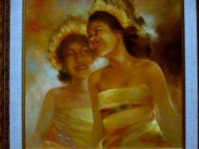 lukisan karya toto sukatma,Lukisan Gadis Bali,lukisan gadis,lukisan cewek,lukisan cat minyak,lukisan bali,lukisan