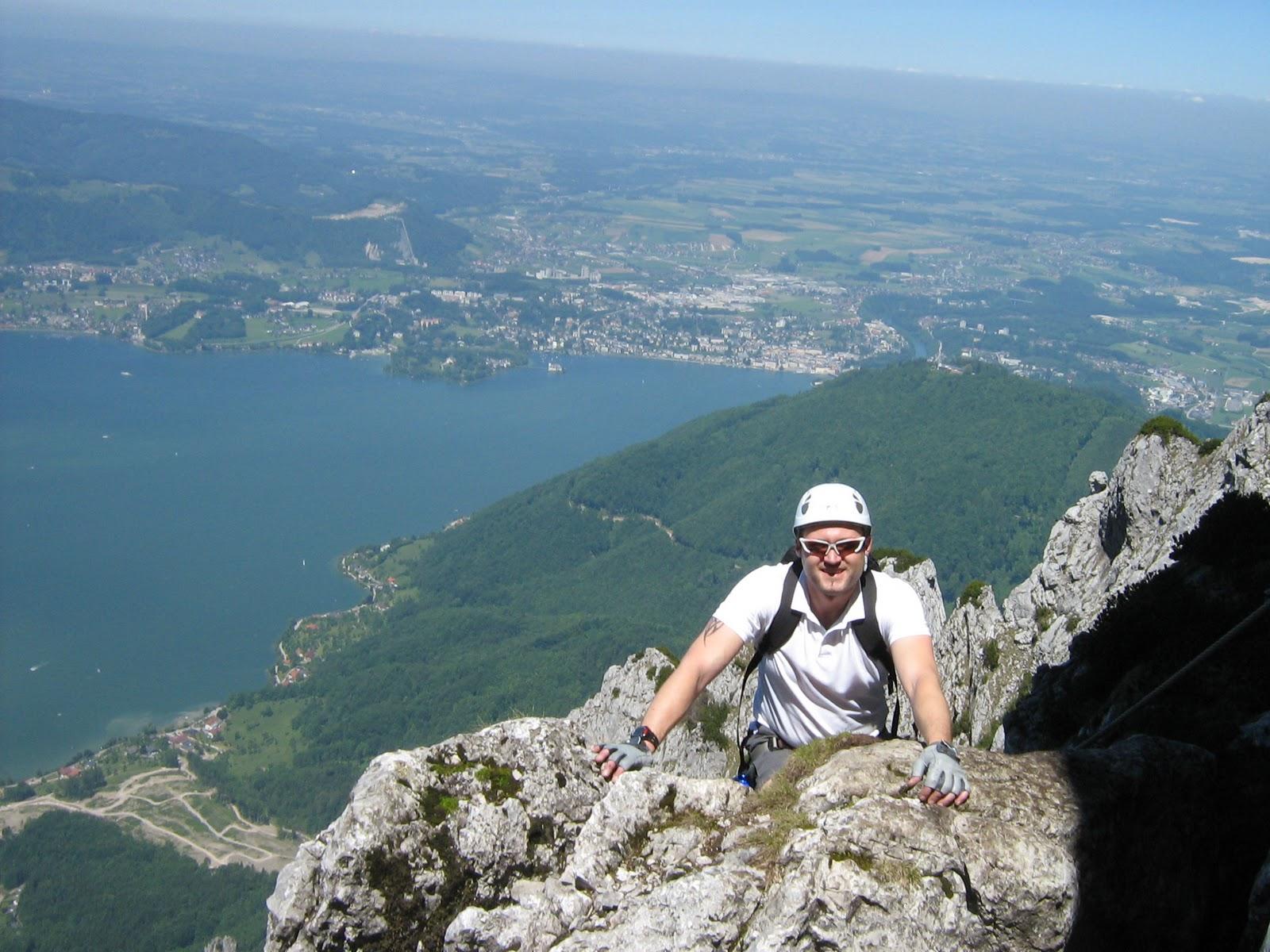 Klettersteig Traunstein : Höhenrausch: traunsee klettersteig d traunstein