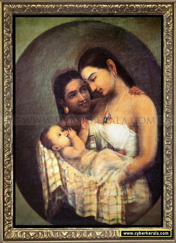 Raja Ravivarma Painting 17 Mother And Child Vp Love Images Hd