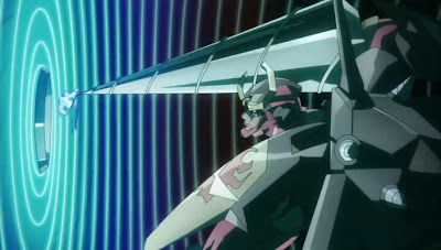 Gurren-Lagann episode 22: Stalled in front of the moon's control port