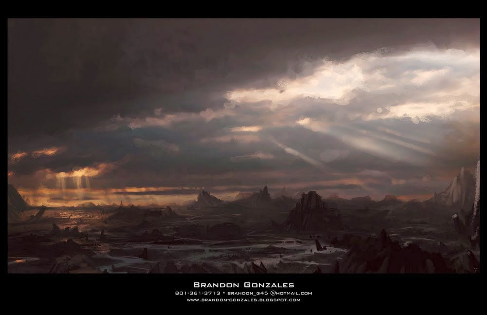 Dark Clouds Matte Painting Concept