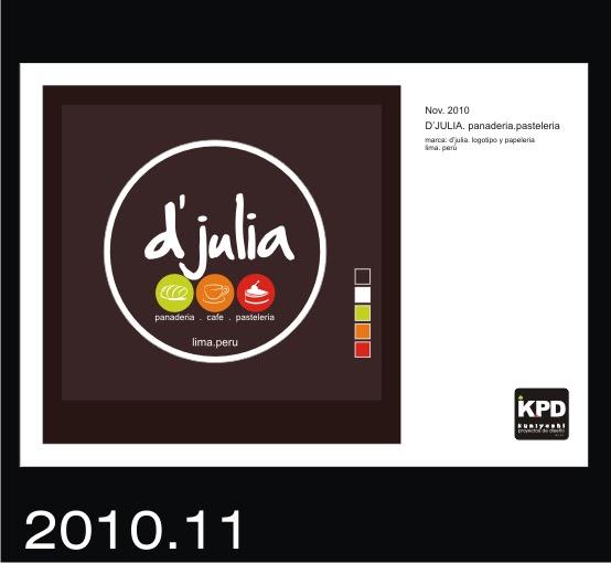 Logotipo para D´Julia. Panaderia y Pasteleria (actualizacion)