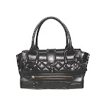 Burberry Quilted Manor Handbag in Black