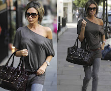 Victoria Beckham and her Burberry Manor Quilted Handbag