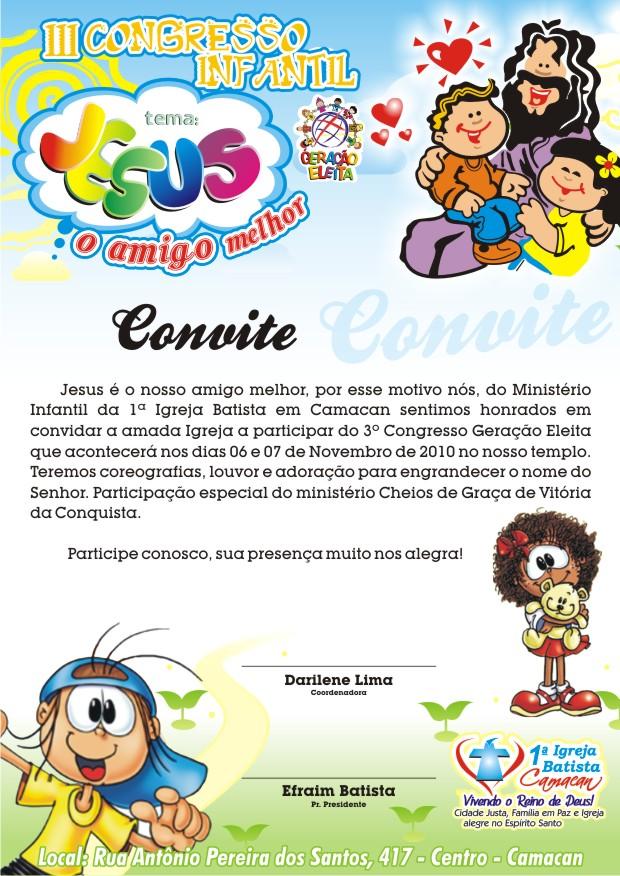 convite do congresso de criancas p as igrejas