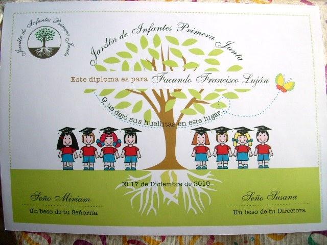 Mi blog de cumples diplomas para jard n de infantes for Azul naranja jardin de infantes