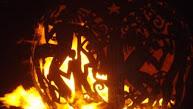 Vuurkorf op Trellis Bay