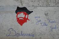 ons logo op de kademuur van Porto Santo