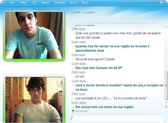 Suposta conversa no MSN gera boato de que cantor Luan Santana é Gay