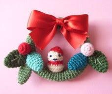 Free Amigurumi Patterns: Christmas Wreath