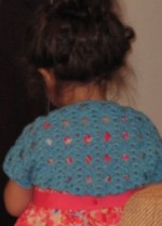 Free Knitting Pattern glamknits Textured Circle Shrug : Lion Brand