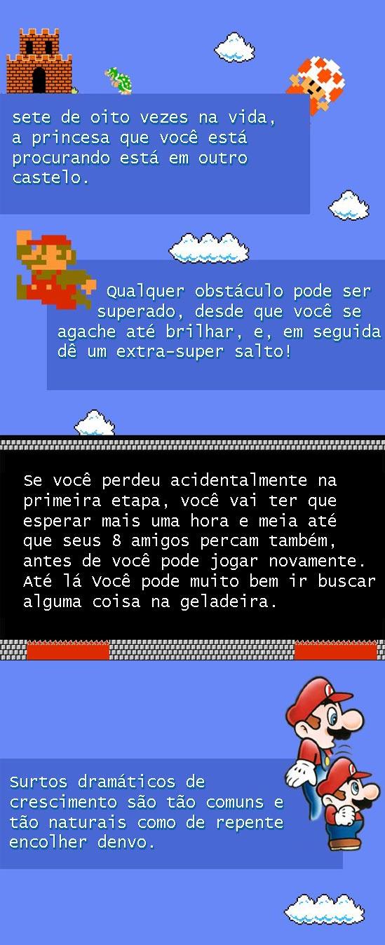 Tudo na vida pode ser aprendido com Super Mário