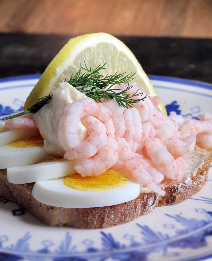 shrimp open faced sandwiches are a true danish classic and are ...