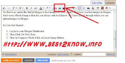 How to Upload Images by URL in Blogger