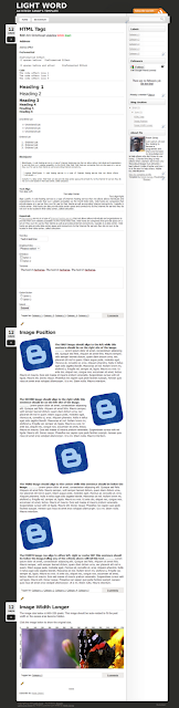 Lightword Blogger Template