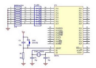 Rangkaian driver led dengan mikrokontroler AT89S52