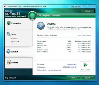 Kaspersky Anti-Virus for Windows 7 v8.0.0.1082 beta