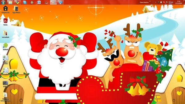 Download Red Christmas Windows 7 Theme 1.0