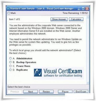 Download Visual CertExam Suite 1.9.987