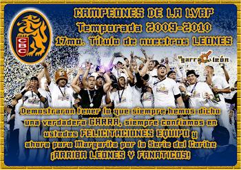 CAMPEONES DE LA LVBP DE LA TEMPORA 2009-2010