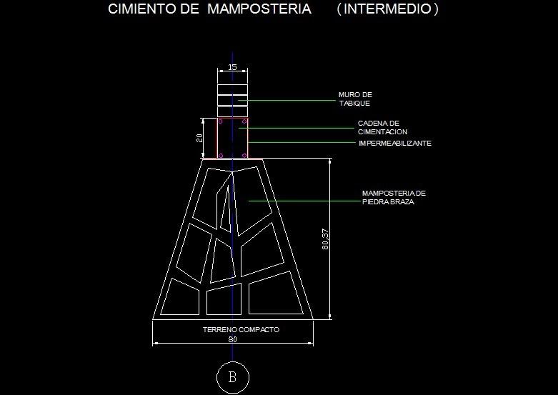 Ingenieria civil cimiento de mamposteria intermedio - Tipos de mamposteria de piedra ...