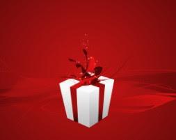 """Descoperă """"CADOURILE Tale GRATUITE""""... cu un simplu click pe pachetul alb, cu fundiţă roşie..."""