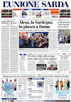 unione prima pagina 12 gennaio 2010 dna nuragico