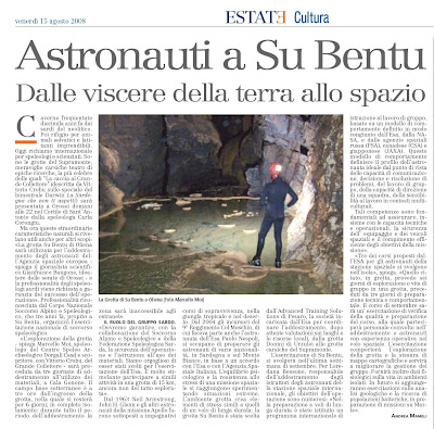 astronauti a su bentu