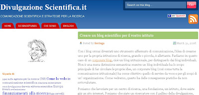 creare blog scientifici