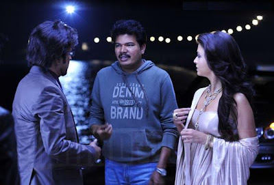 Rajini and Ash in Endhiran stills