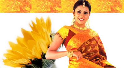 Namitha in sari