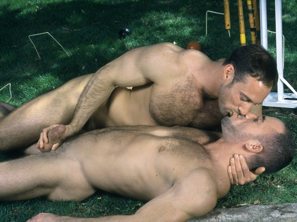 Gay black kissing