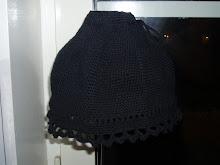 Virkad lampkjol -svart
