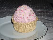 Jordgubbscupcake med strössel