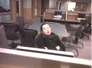 Asians Sleeping in the Library