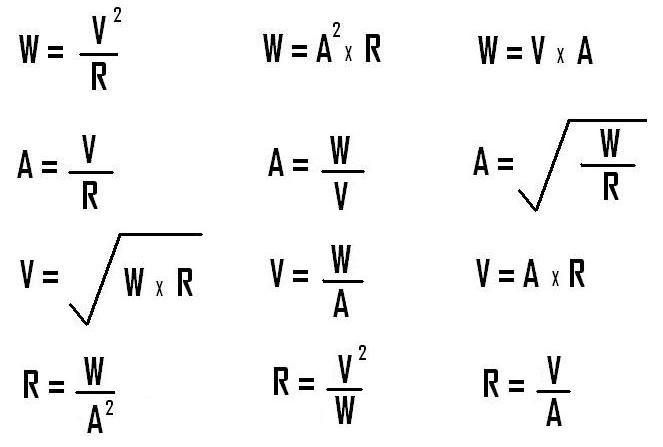 william e  mosquera  formulas usadas en electricidad y electronica