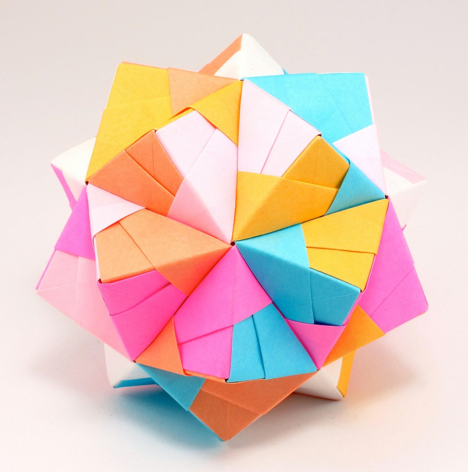sonobe cube origami 171 embroidery amp origami