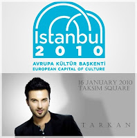 Tarkan in Taksim Square for Istanbul2010