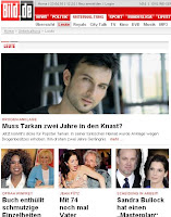 Germany's Bild carries news of Tarkan drug news on its front page