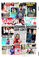 Yesterday's front page of Sabah's supplement Gunaydin