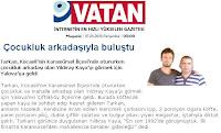 Vatan's report on Tarkan visiting a childhood friend