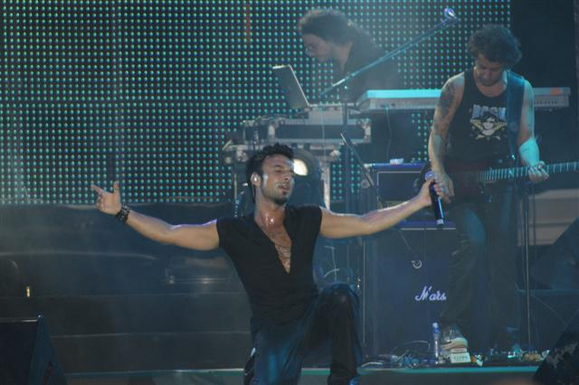 Photo from Tarkan's Tasdelen Show, 23 August 2008